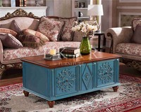 Accent Furniture Low Wooden Low Coffee Table