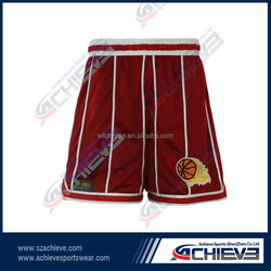 Custom your own polyester fabric school basketball short wholesale