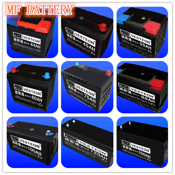 12V lead acid korean car battery price from 32AH to 250AH