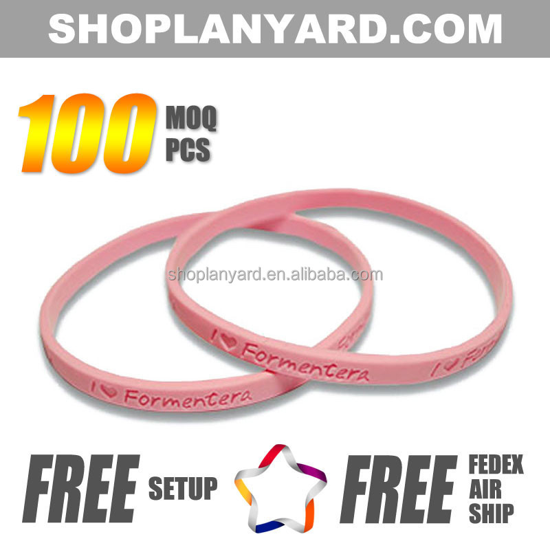 Great Quality Silicone Debossed Bracelet Wristband