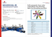 PVC two head four color shoe making machine/pvc slipper making machine/PVC mouding machine