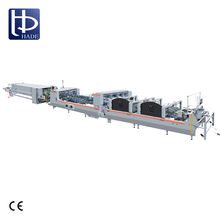 HADE New Style High Speed /Automatic 4 6 Corner Carton Boxs Folding Gluing Machine