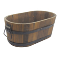 New design Pine Wooden Bucket with a hole at the bottom