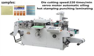 Full-automatic die cutting machine for label and adhesive tape made in china