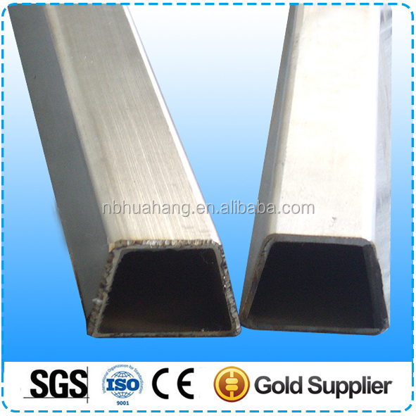 HH-P01 High quality 2016 New product 201/304 <strong>Stainless</strong> Steel Trapezoidal Pipes made in China