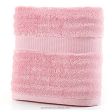 Hotel Luxury Ultra Soft Organic Pink Bamboo Fiber Bath Towels for Sale