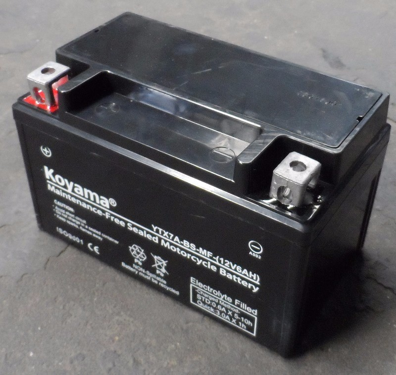 YTX7A-BS-motorcycle battery sealed maintenance Free motor battery -12V7AH