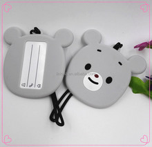 pvc silicone lovely funny personalized bear animal luggage tags