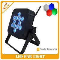 Professional Stage Light 12x4w 4in1 Wireless and Battery LED Flat Par Can