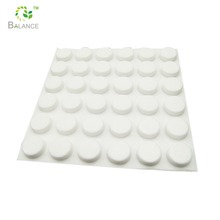 Self-adhesive silicone dot rubber feet