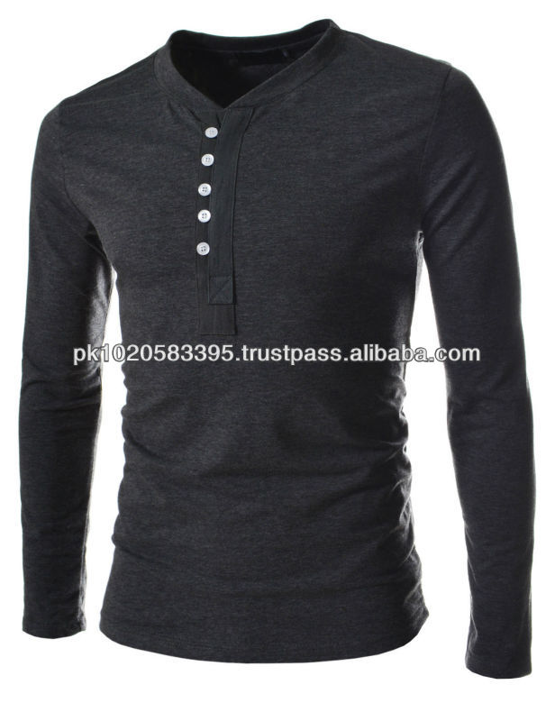 Custom Henley Shirts/T Shirt Wholesale