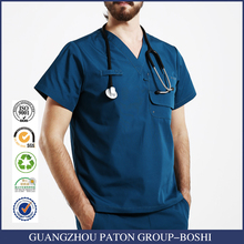 New Design Stylish Hospital Uniform With Pocket Royal Blue Scrub Sets