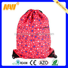 colorful five-pointed stars print dancing drawstring shoe bag