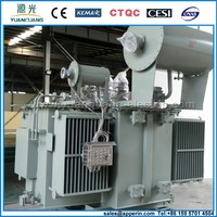Manufacturer 6000KVA oil immersed pole mounted step down distribution transformer of 33KV to 415V
