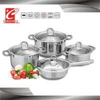 8 pcs prestige stainless steel hot sell casserole set