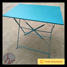 The garden folding square iron metal coffee table