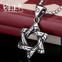 beier trending hot products star of david pendant wholesale gift items stainless steel pendant necklace BP8-089