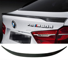 P Style Real Carbon Fiber Rear Trunk Boot Lip Spoiler For BMW X6 F16 2015UP B264