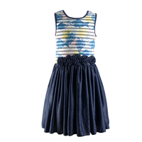 baby girl summer party frocks dress clothes with digital print