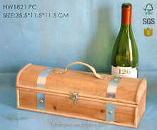 Hongwei handmade Wood Retro Primitive Wine Bottle Packing Box/Wine Storage Box Case for Home Decor