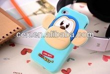 Wholesale - HOT Cute 3D King Monkey Case Back Cover Cases Skin Clear Silicon Soft Rubber Animal Cartoon for Apple iPhone5C