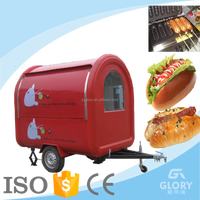 2016 hot sale color custom hamburger cart/mini mobile fast food truck for sale in malaysia with trailer