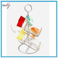 glass spice jar set with metal holder glass cruet set with stand