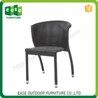 Processing With Supplied Drawings Solid Non-wood Aluminum Wooded Frame Rattan Weave Restaurant Chairs