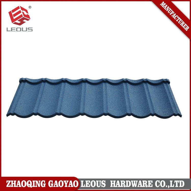 Safety colorful sand coated zinc building material roof tile