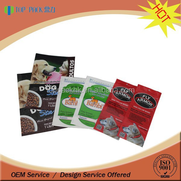 Hot sale high quality aluminum foil zipper bag for animal feed