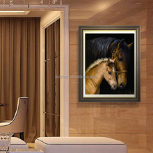 Wholesale Alibaba Wall Art Diy Diamond Painting 3D Horse Pictures