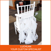 HOT SALE Fancy Chiavari Chair Covers For Pure White Organza Cover Chair