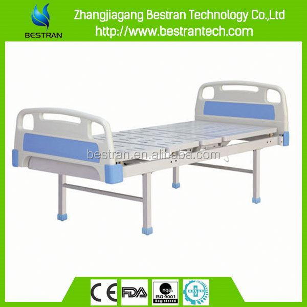 BT-AM401 Hospital furniture steel bedboard disabled people care bed with IV pole