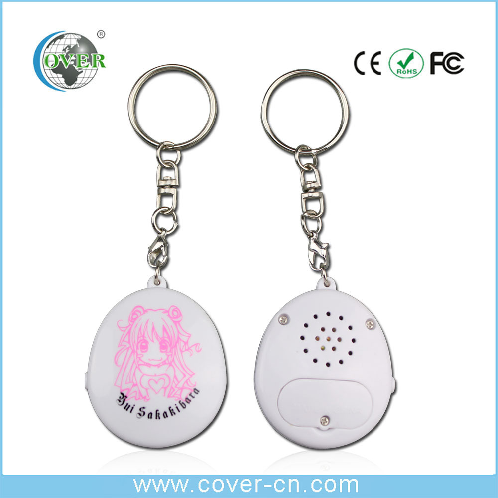 Custom recordable sound effect music keychain as gifts or promotion