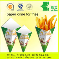 french fries paper packaging&large quantity paper bag or cone