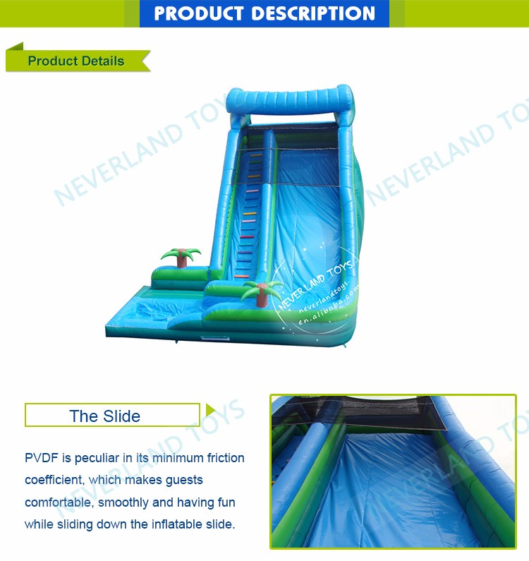 NEVERLAND TOYS Swimming Pool With Inflatable Water Slide For Kids