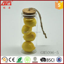 decorative glass drift bottle with fruit inside for decoration and gift