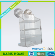 Bathroom Multipurpose Rack Plastic, Suction Organizer