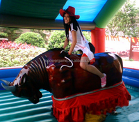 Crazy inflatable bull ride for amusement park