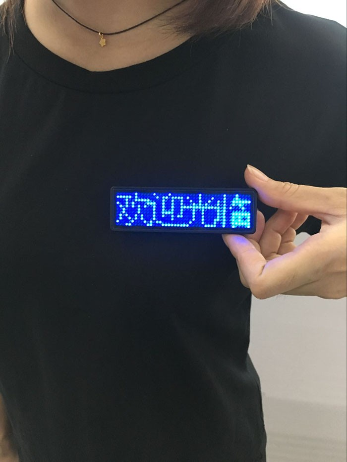 8 Speeds Available LED Programmable Badge