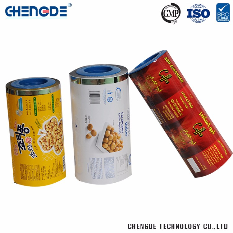 Plastic New Fashion Composite Packaging Roll Film For Snack Cake