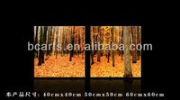BCP-0473 Printed Art of Landscape Covered with deciduous woods