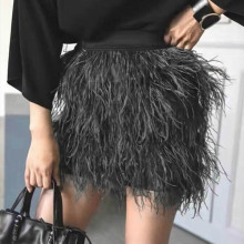 Noble high grade lady real ostrich feather skirt /Skirt For Sexy Girl Fashion Feather The skirt