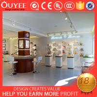 Professional cosmetic store display cabinet shop furnitures for cosmetic display