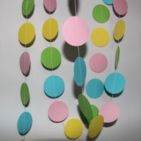 1.5 meter lime Yellow Pink Blue Paper Decoration Garland For Baby Shower