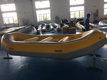 14ft China inflatable folding raft river fishing/rescue boat for sale