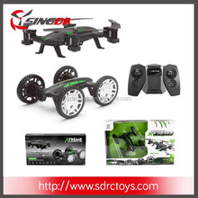 FY602 2.4G 4CH 6-axis Gyro Flying Rc Quadcopter 2 in 1 Drone rc flying car With Altitude Hold RTF