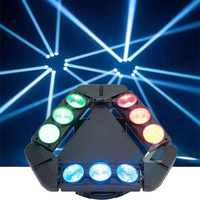 2015 New design three head dj show 9*12w RGBW 4in1 triangle led stage spider beam moving head light for night club
