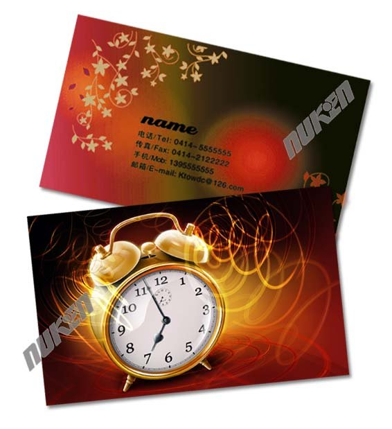 2016 hot sale Promotional pvc printed plastic business card