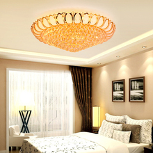 JYL-SJ004 Living room indoor multi-color led crystal ceiling lamp european chandelier ceiling lamp